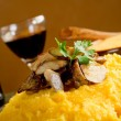 polenta with mushroom — Stock Photo