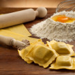 Ingredients for italian homemade pasta — Stock Photo