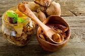 保留食用菌 — 图库照片