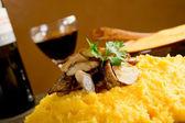 Polenta with mushroom — Stock Photo