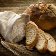 Stock Photo: Bread ear and flour-pane spighe e farina