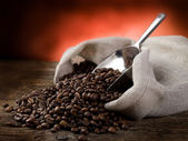 Toasted coffee beans — Stock Photo