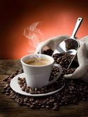Warme koffie — Stockfoto