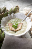 Artichoke soupe — Stock Photo