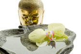 Buddha head - spa concept — Stock Photo