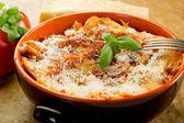 Italian lasagne with ragout — Stock Photo