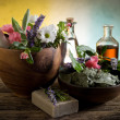 Natural Herbal Products-Spa cosmetics — Stock Photo