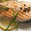 Grilled fresh salmon — Stock Photo #6434433