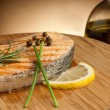 Stock Photo: Grilled fresh salmon