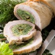 Turkey roll filled — Stock Photo