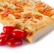 Royalty-Free Stock Photo: White pizza with tomatoes