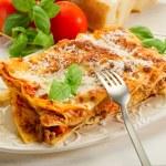 Italian lasagne with ragout — Stock Photo #6438349