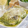 Stock Photo: Vegetaripesto lasagne