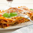 Italian lasagne with ragout — Stock Photo #6438459