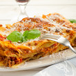 Stock Photo: Italian lasagne with ragout
