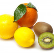 Stock Photo: Vitamin fruits