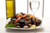 Ingredients for fish recipe — Stock Photo