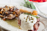 Tenderloin with cream &mushroom — Stock Photo