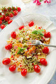 Cold pasta salad — Stock Photo