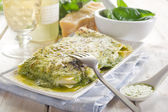 Vegetarian pesto lasagne — Stock Photo