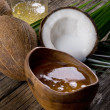 Natural coconut walnut oil - Stockfoto