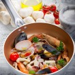 Crustacean over casserole — Stock Photo