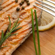 Grilled fresh salmon — Stock Photo #6447923