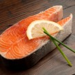 Raw fresh salmon — Foto Stock
