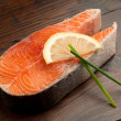 Raw fresh salmon — Stock fotografie