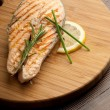 Grilled fresh salmon — Stock Photo #6448074