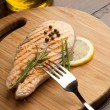 Grilled fresh salmon - Stock Photo