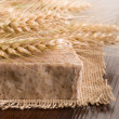 Homemade naural grain soap — Stock Photo