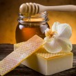 Stock Photo: Natural homemade honey soap