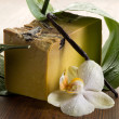 Royalty-Free Stock Photo: Natural aromatic homemade vanilla soap