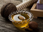 Almond oil — Stock Photo