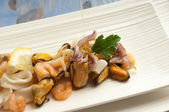 Seafood sallad — Stockfoto