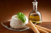 Ricotta typical italian fresh cheese — Stock Photo
