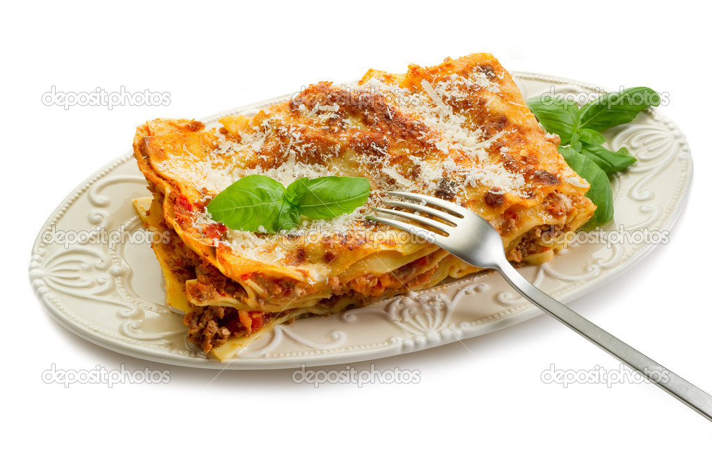 Italian lasagne  with ragout   Stock Photo #6445469
