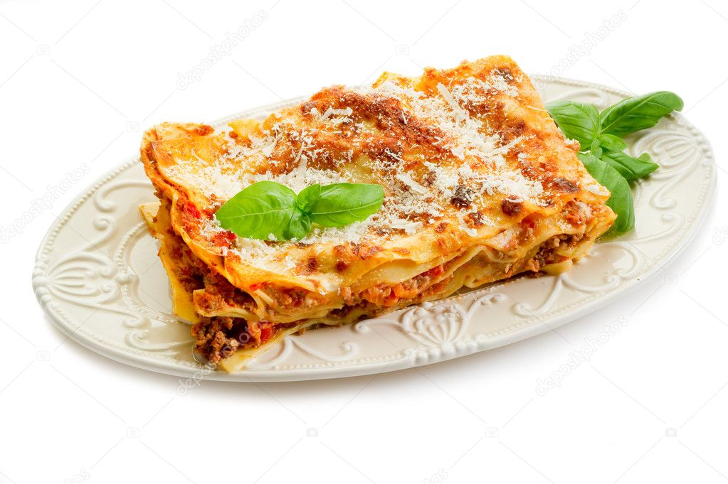 Italian lasagne  with ragout  — Stock Photo #6445477