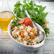 Salad with tofu and vegetables — Stock Photo