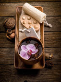 Spa concept on wood — Stock Photo