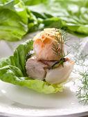 Salmon and tuna glrilled — Stock Photo