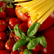 Ingredients for italian tomato pasta sauce - Stock Photo