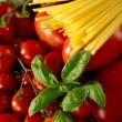 Ingredients for italian tomato pasta sauce — Stock Photo #6462803