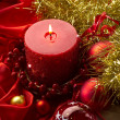 Red xmas decorations — Stock Photo