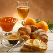 Stock Photo: Continental breakfast