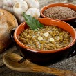 Stock Photo: Lentil soup on bowl