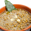 Lentil soup on bowl — Stock Photo