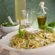 Italian pesto pasta — Stock Photo