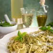 Italian pesto pasta - Stock Photo